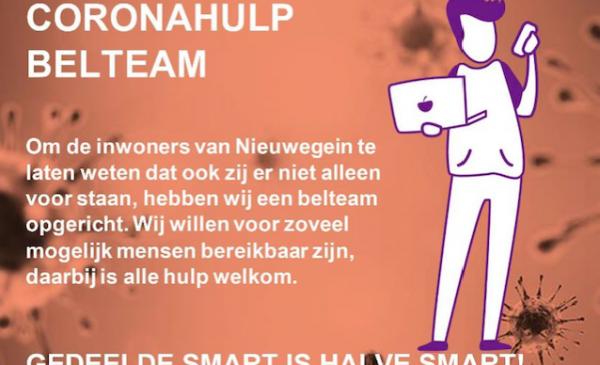 Vrijwilligershuis Nieuwegein start Corona Hulpdienst