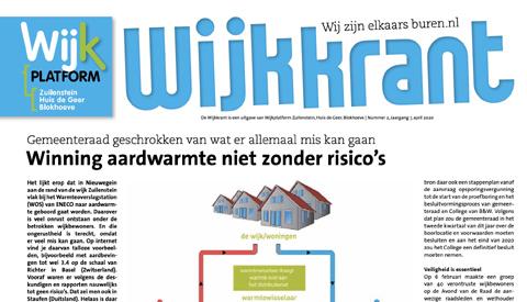 De wijkkrant van Wijkplatform Zuilenstein, Huis de Geer, Blokhoeve staat weer klaar