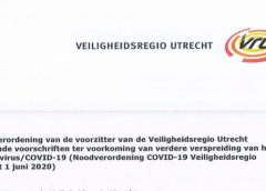 Noodverordening COVID-19 Veiligheidsregio Utrecht van 1 juni 2020