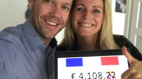 Stefan en Anoek Duijndam uit Nieuwegein halen virtueel € 4.108,22 op voor Alpe d'HuZes
