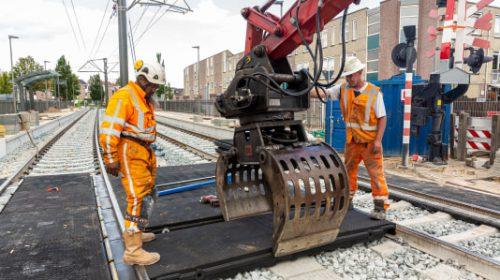 Werk aan trambaan start vroeg vanwege hittegolf