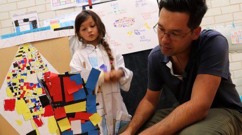 Mondriaan-museum bij Montessorischool De Vleugel