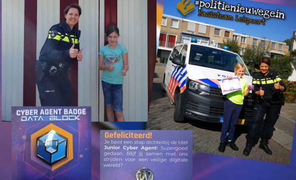 Hugo en Yara ontvangen hun HackShieldbattle certificaat en badge