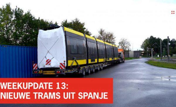 De nieuwe tram uit Spanje komt binnen