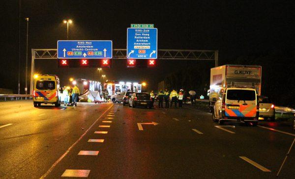 Ernstig ongeluk op de A2 bij Nieuwegein