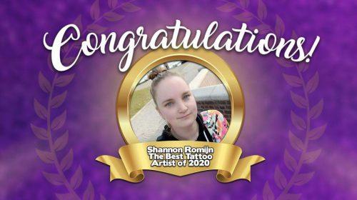 Shannon Romijn uit Nieuwegein beste tatoeëerder ter wereld van 2020