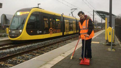 Schoonmaak trams, haltes en werkplaats door CSU