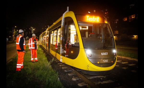 Opnieuw nachtelijke testritten tram lijn 61