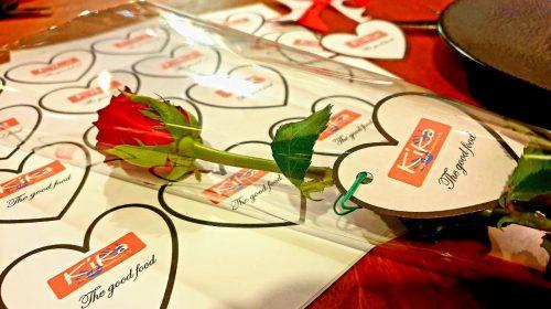 Team KiKa Nieuwegein en 'The Good Food' vieren Valentijnsdag