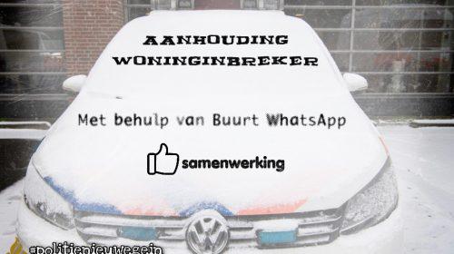 Woninginbreker ontkomt niet aan de BuurtwhatsApp in Nieuwegein Zuid