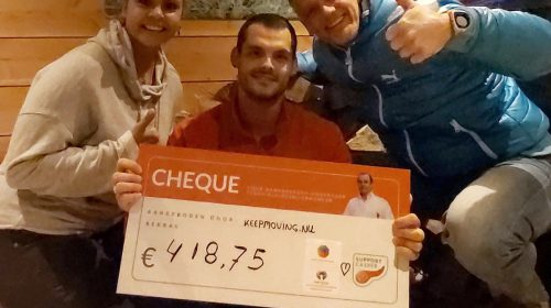 Keep Moving haalt € 418,75 op voor stichting Support Casper