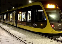 Testritten op tramlijn 61 getroffen door winters weer