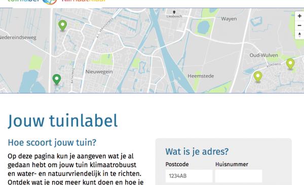 Tuinlabel geeft inwoners van Nieuwegein inzicht in de status hun tuin