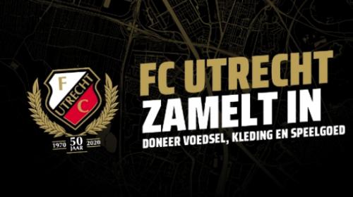 FC Utrecht zamelt voedsel, kleding en speelgoed in