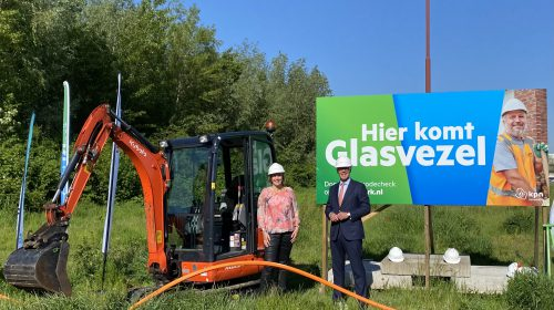 Glasvezelaanleg in Nieuwegein gestart