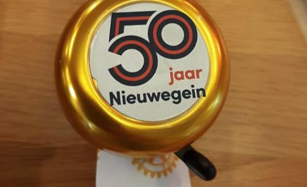 Grootste fietsbelconcert van Nieuwegein omdat de stad 50 jaar bestaat