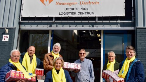 2265 pakken koffie voor Voedselbank Nieuwegein-IJsselstein door actie Lions
