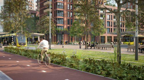 Gele tegels voormalig restaurant symbool voor nieuw Stationsgebied City Nieuwegein