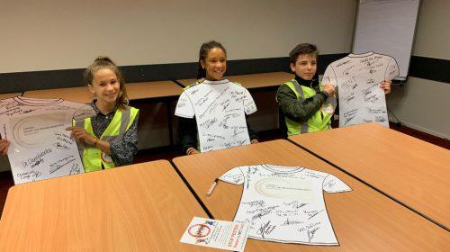 Kinderambassadeurs Nieuwegein ondertekenen sportakkoord Nieuwegein