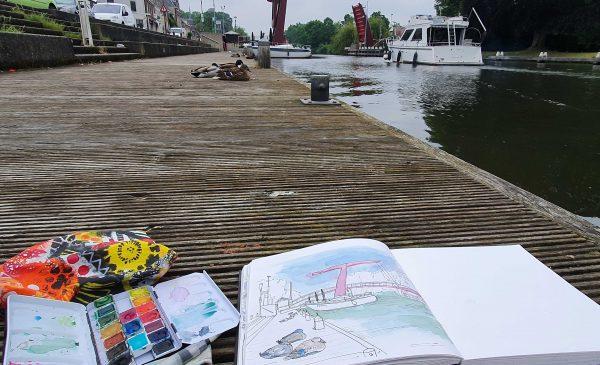 Sketchcrawl in de zomermaanden