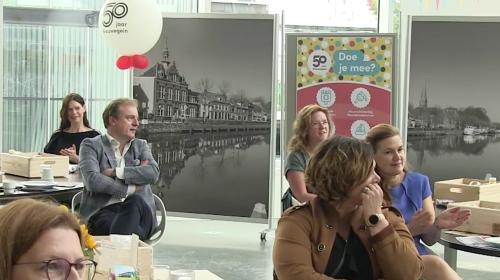 50 jarigen in het zonnetje gezet tijdens lunch '50 jaar Nieuwegein'