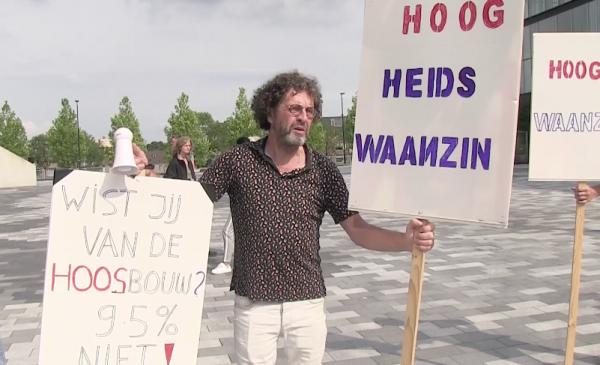 Protest tegen komst 70 meter hoge flat maakt geen indruk