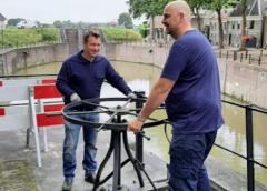 Sluisdeuren Oude Sluis in Vreeswijk gesloten vanwege hoog water