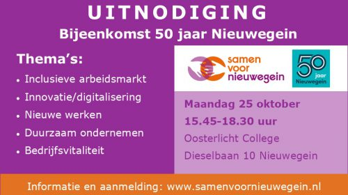 Bijeenkomst voor ondernemers voor 50 jaar Nieuwegein