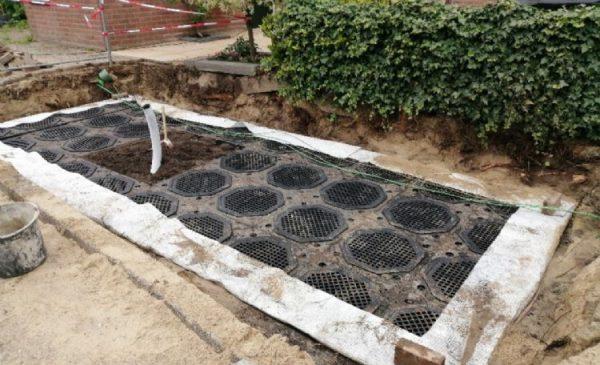 Boombunkersysteem voor bomenaanplant op de Bergfluiter