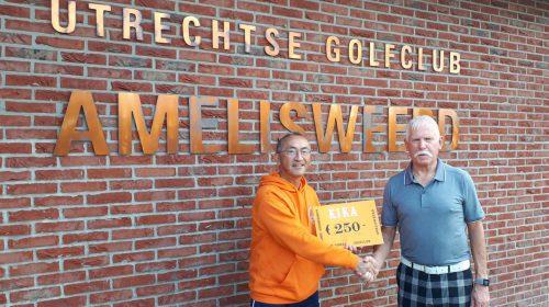 Utrechtse Golfclub Amelisweerd overhandigd Cheque aan Team KiKa Nieuwegein