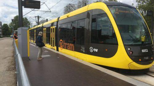 Werkzaamheden aan tijdelijke tramhalte Nieuwegein-Centrum