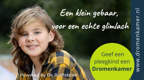 Pleegkinderen krijgen een Dromenkamer dankzij nieuw project