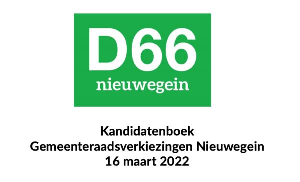 D66 Nieuwegein maakt kandidaten advieslijst gemeenteraadsverkiezingen bekend