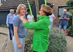 Mevrouw Tilly Bakker wint het Groene Lintje